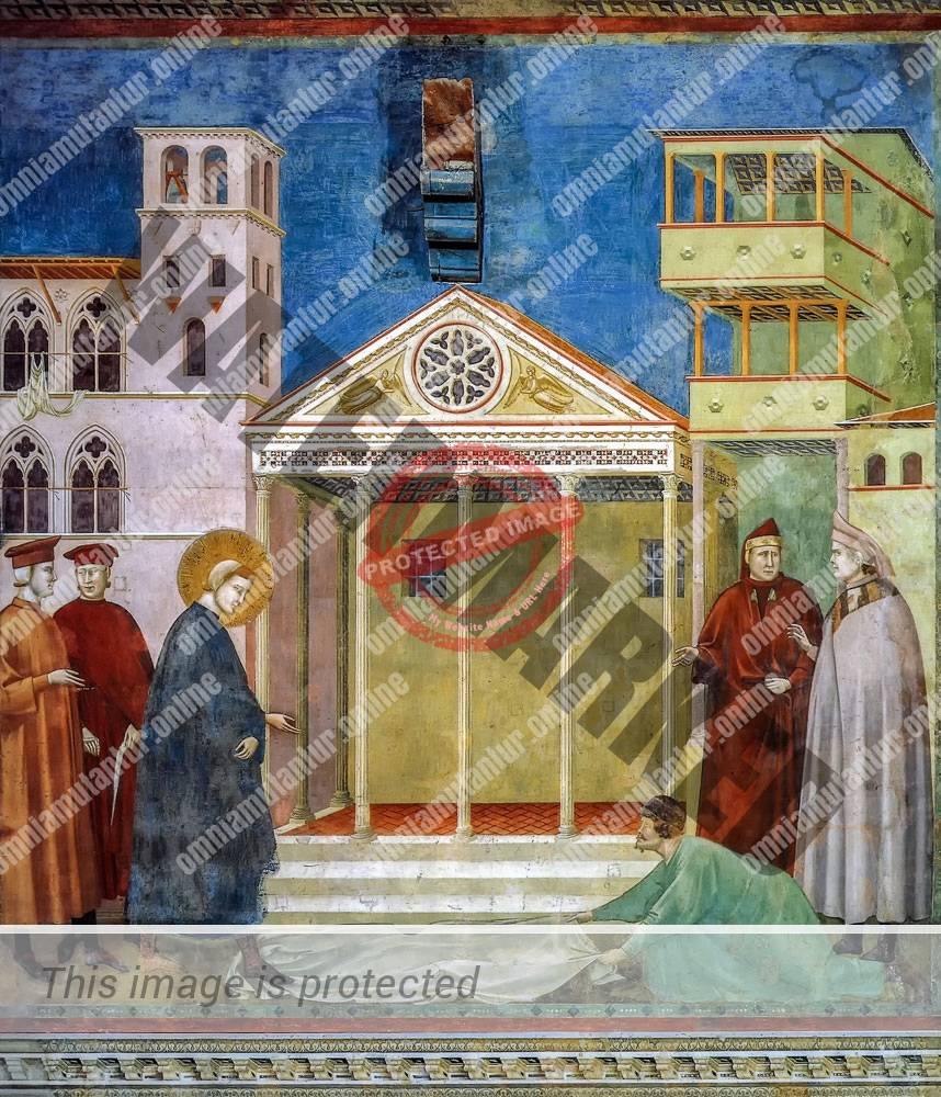 Giotto di Bondone Homage in the Marketplace 1300