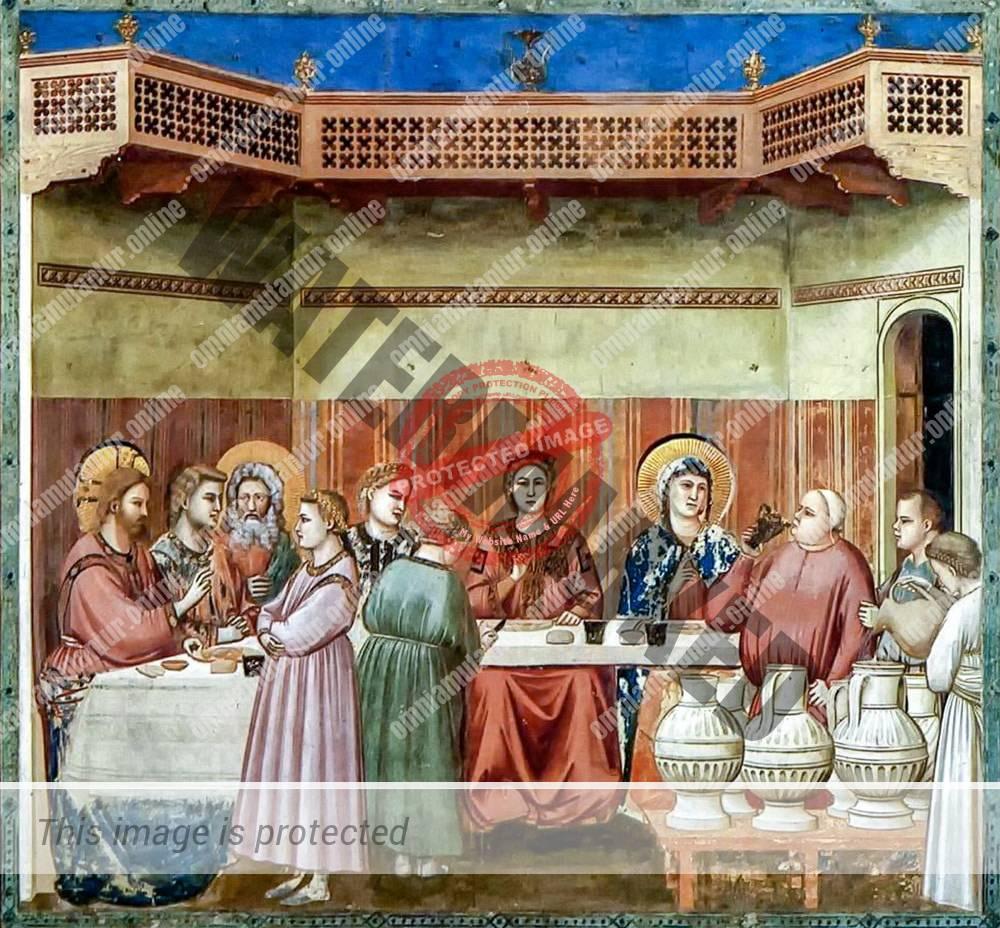 Giotto di Bondone Marriage at Cana