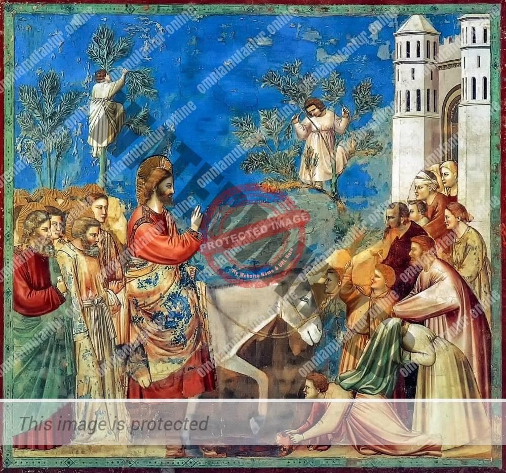 Giotto di Bondone Entry into Jerusalem 1302-05