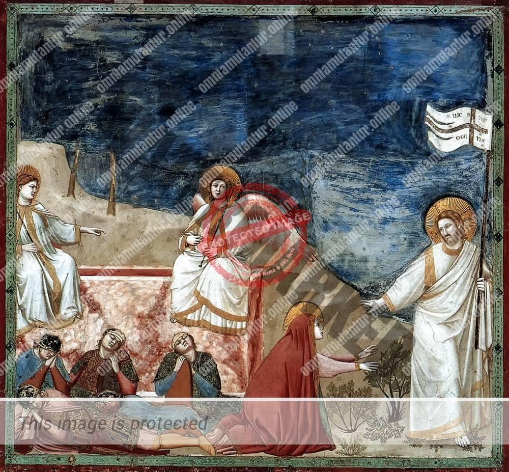 Giotto di Bondone Easter Morning Resurrection 1302-05