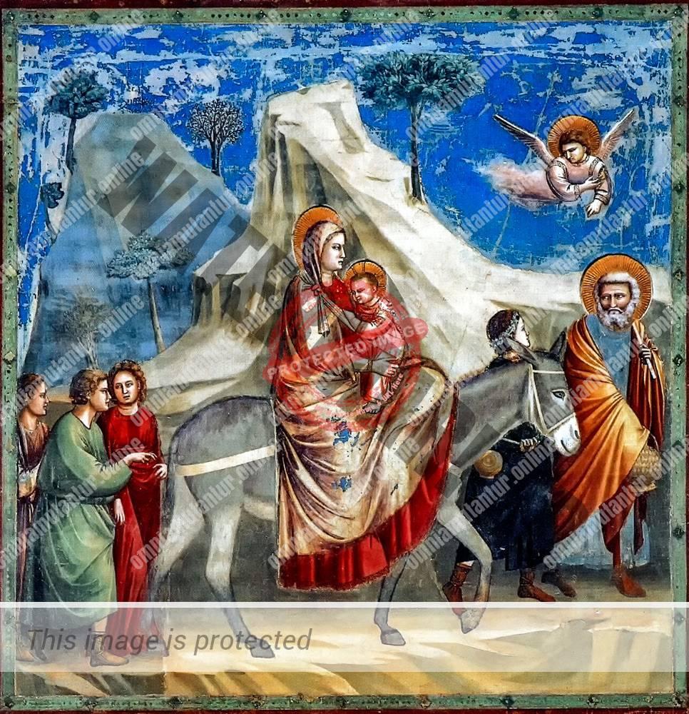 Giotto di Bondone Flight into Egypt 1302-05