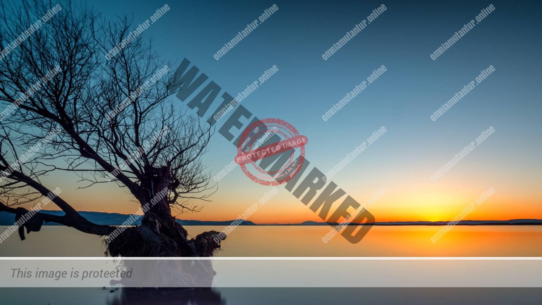 Işıklı Lake Landscape Sunset Günbatımı