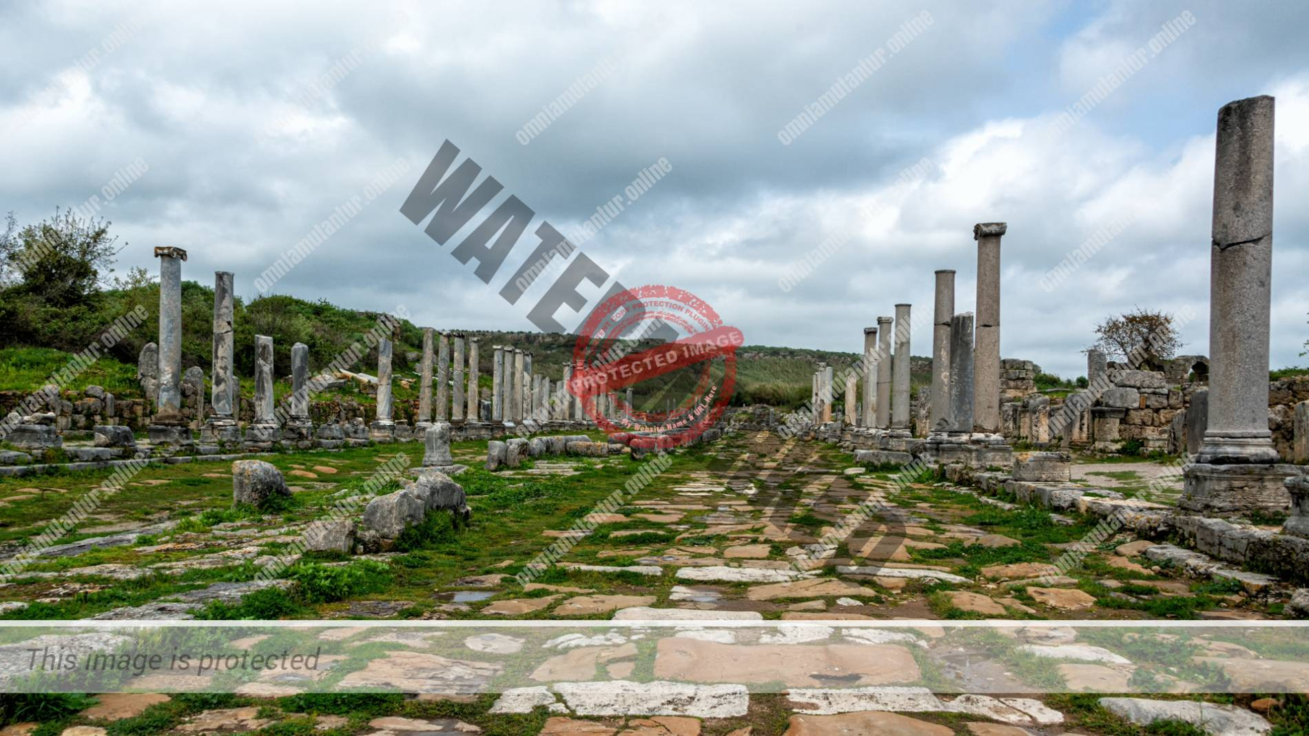 Perge Parga Pamphylia Ancient Greek Archaeological