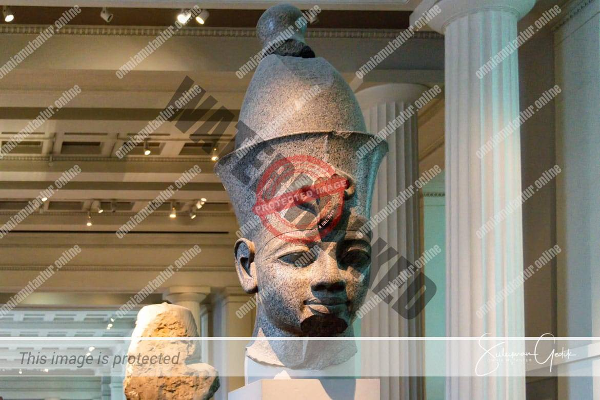 Red Granite Head of a King Egypt Archaeological