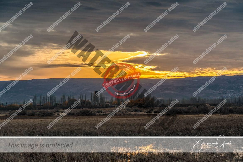 Sultan Sazlıgı Kayseri Turkey Landscape Sunset