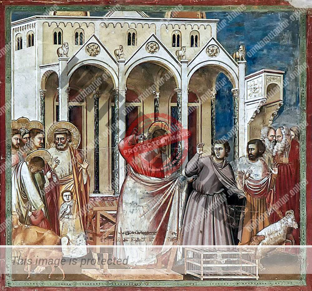 Giotto di Bondone Driving of the Traders from the Temple 1302-05