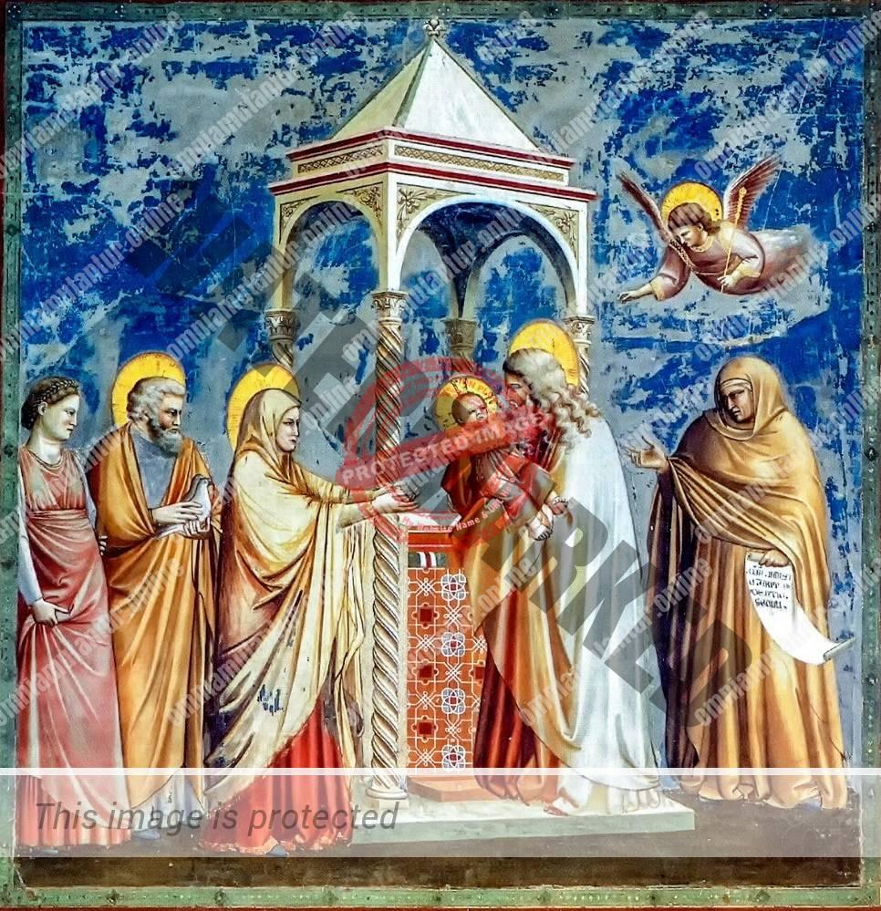 Giotto di Bondone Presentation of Christ at the Temple 1302-05