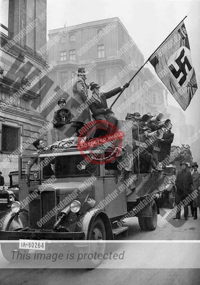 Nazis in Berlin Streets November (1933)