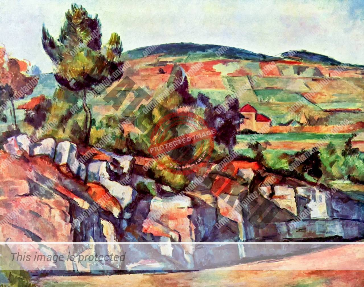 Cezanne Mountains in Province 1886 Art Impressionism