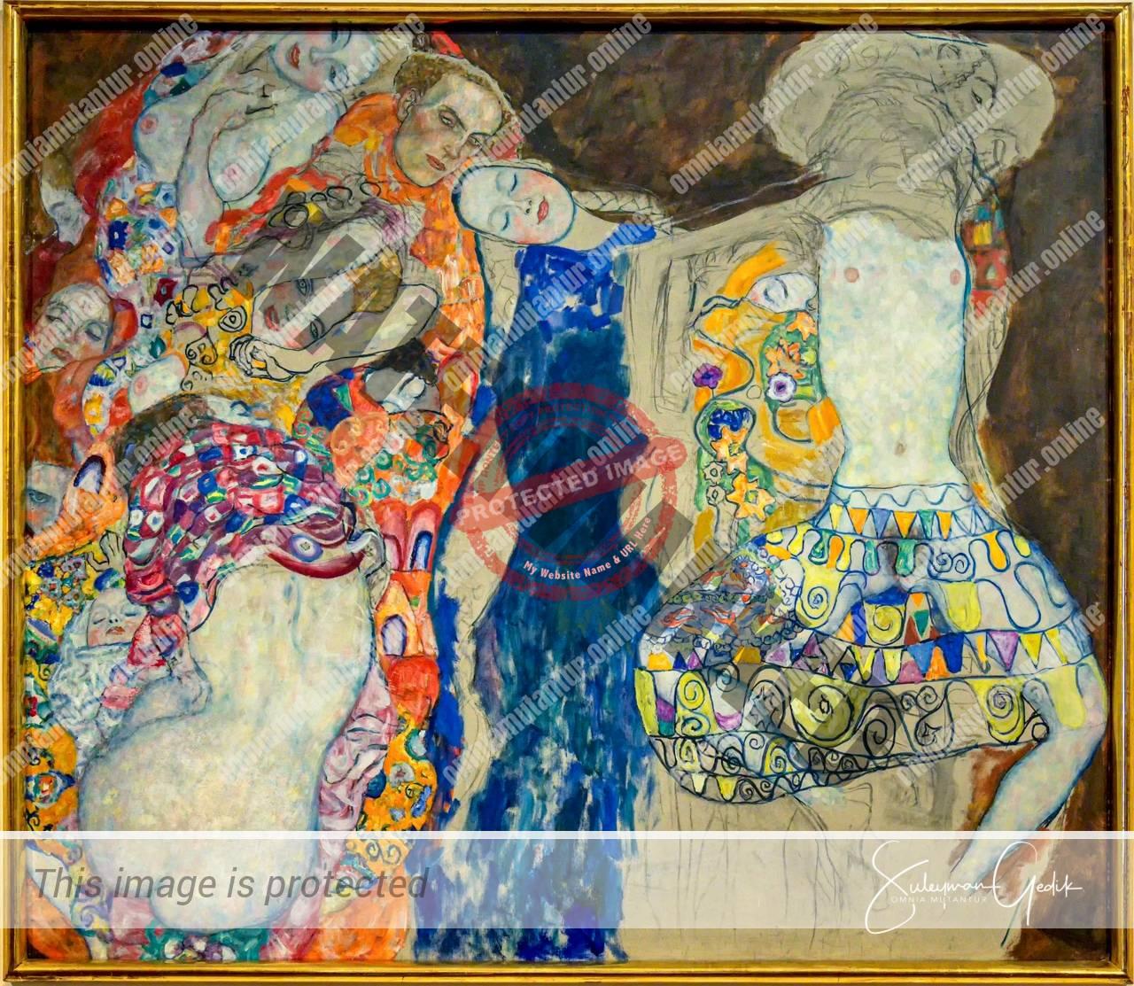 Gustav Klimt The Bride 1917-18 Belvedere Museum Vienna Wien Arts Sezession