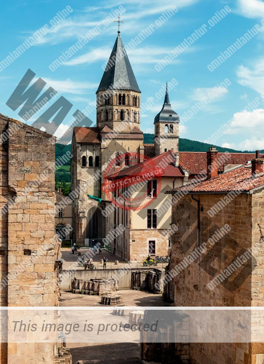 Cluny Abbey Monastery Romanesque Medieval French