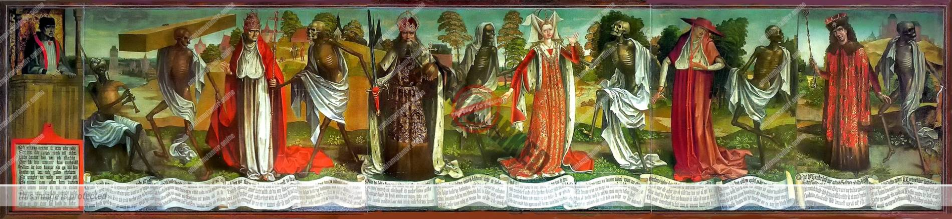 Danse Macabre in Tallinn by Bernt Notke 1463–66