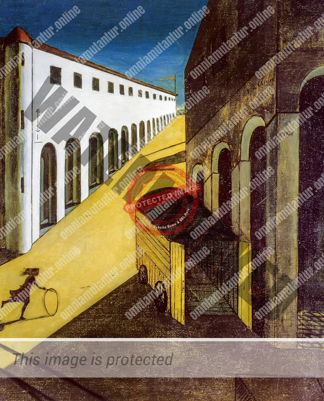 Chirico Melancholy and Mystery of a Street 1914 Art Surrealism