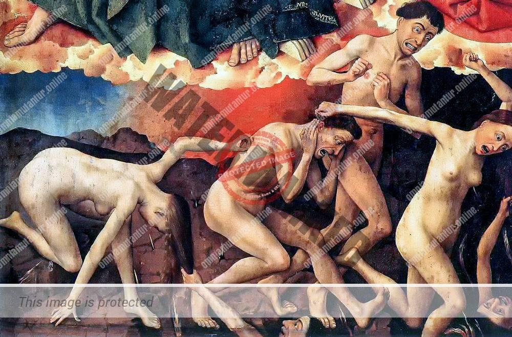 Weyden Beaune Altarpiece Detail 1450