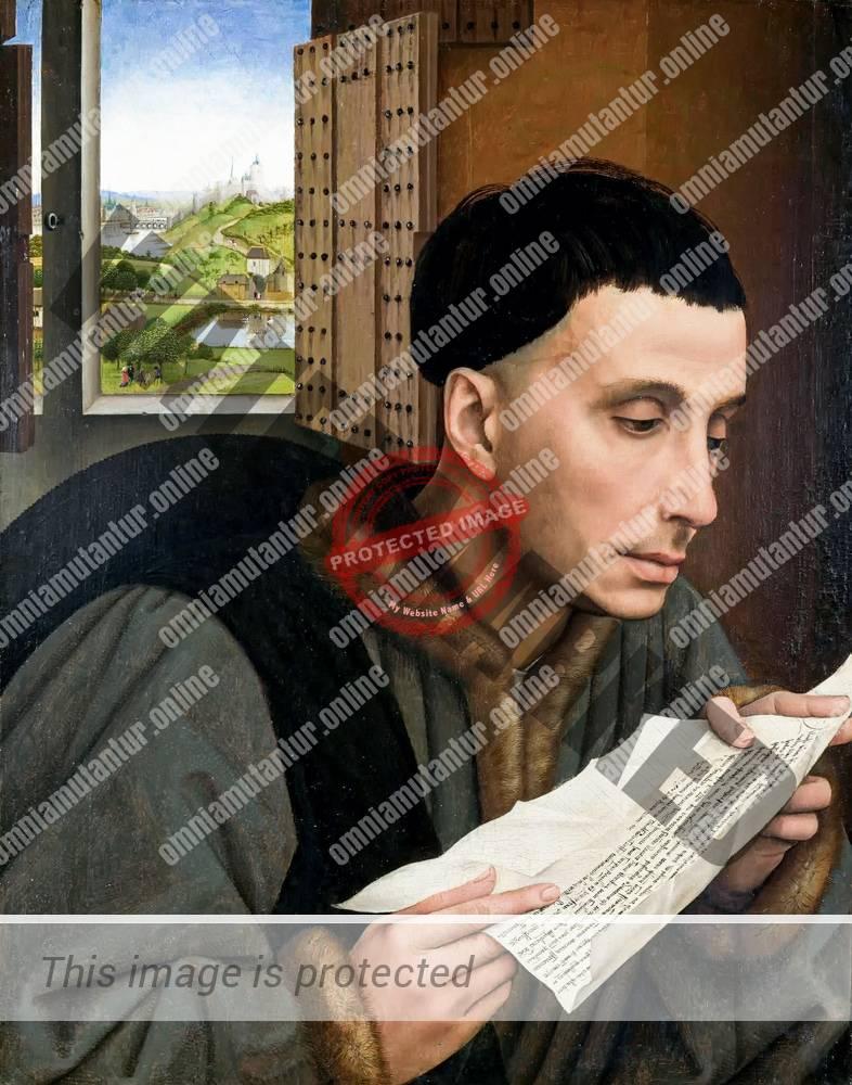 Weyden Man Reading 1450