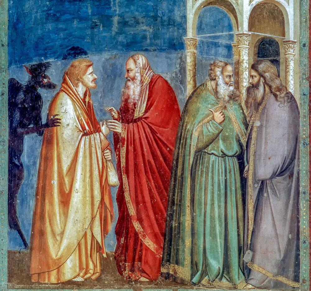 Giotto di Bondone Judas' Betrayal 1302-05
