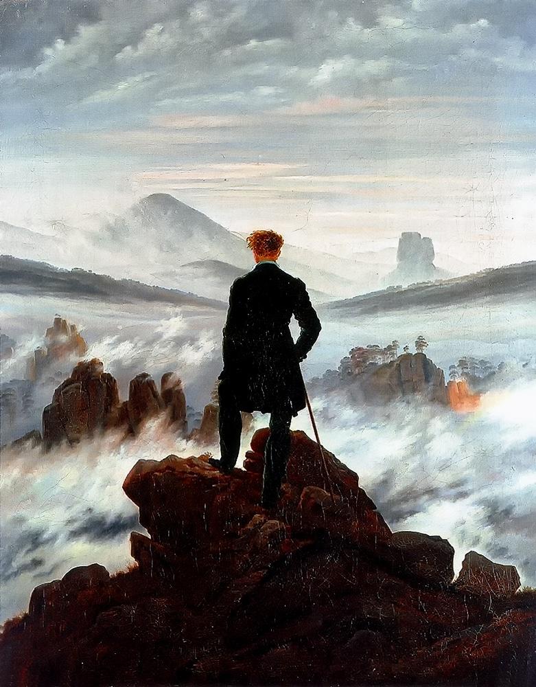 Friedrich Caspar David Wanderer in the Mists 1818 German Romanticism Painter
