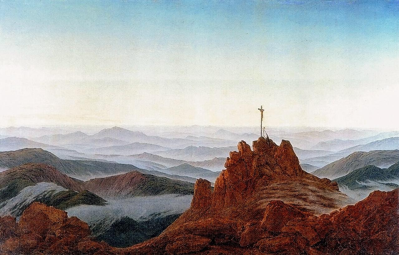 Caspar David Friedrich Morning in Riesengebirge 1810 German Romanticism Arts