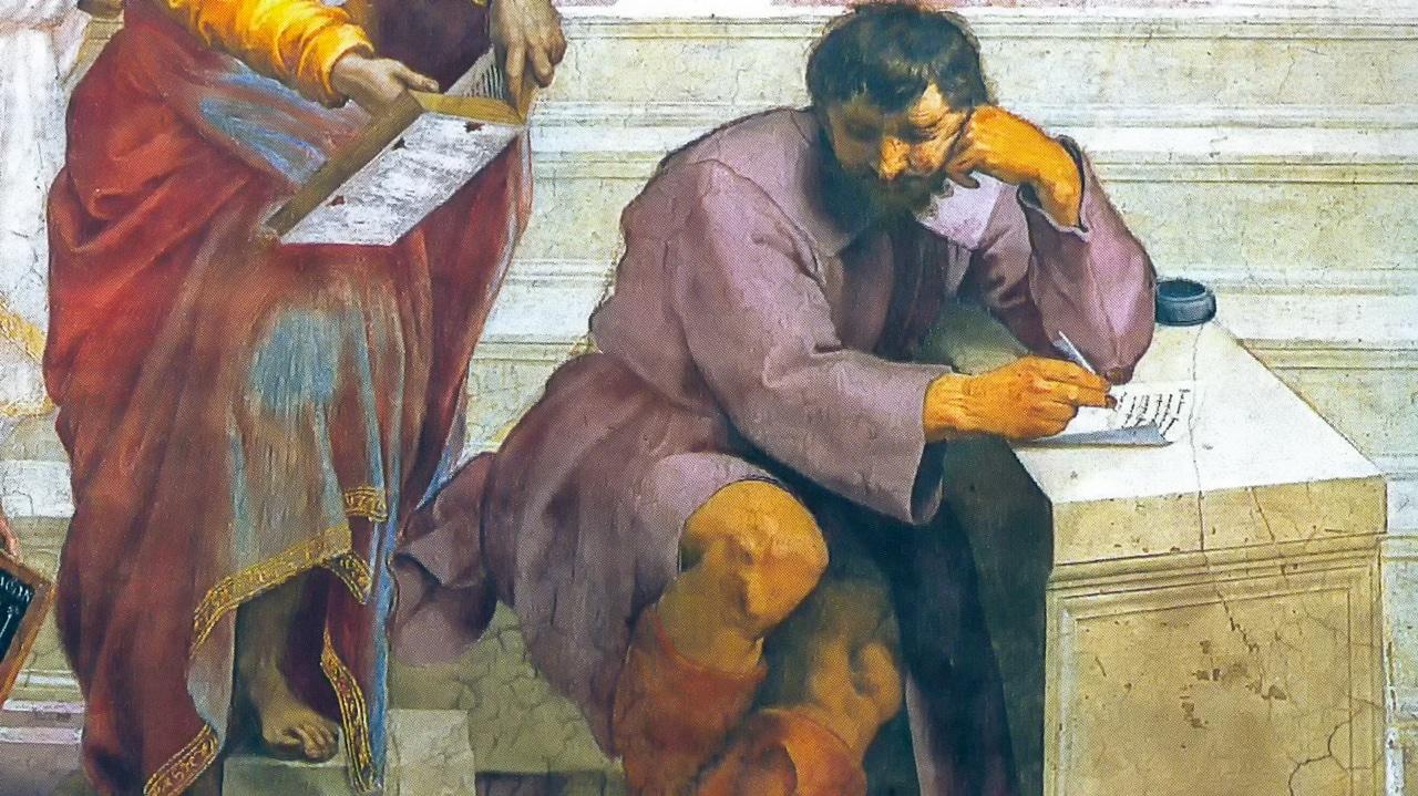 Raffaello Sanzio Raphael School of Athens 1509 Heraclitus