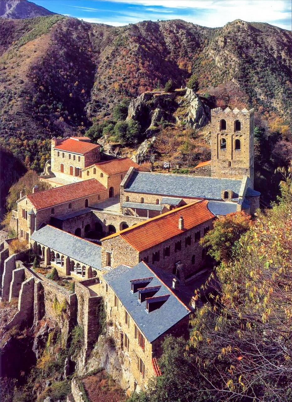 Saint Martin du Canigou Pirennes 11th Century Monastery Abbey Medieval French
