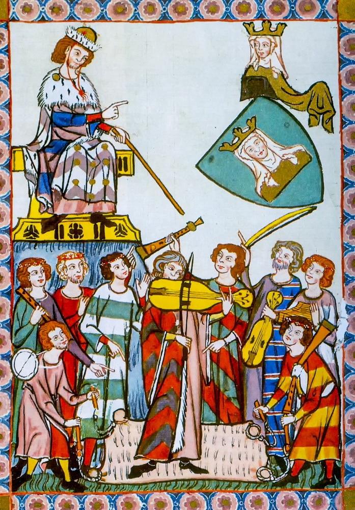 Heinrich Frauenlob conducting his Orchestra 14th Century