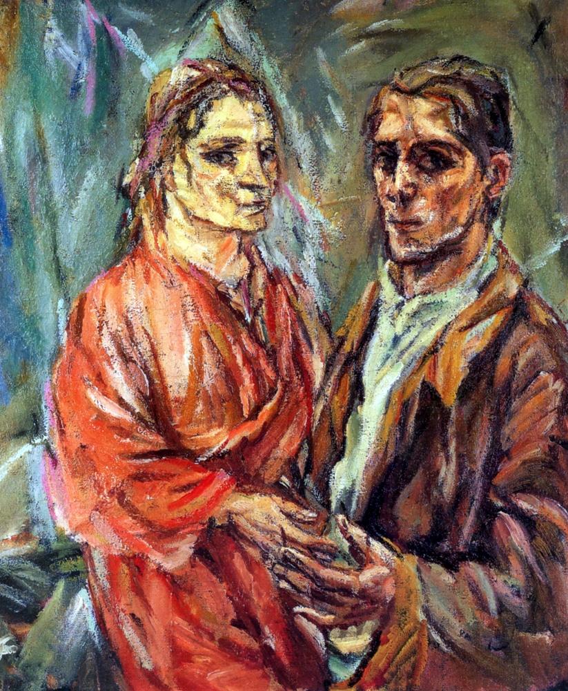 Oscar Kokoschka Double Portrait 1913 Alma Mahler Expressionism Arts Vienna Wien Austria