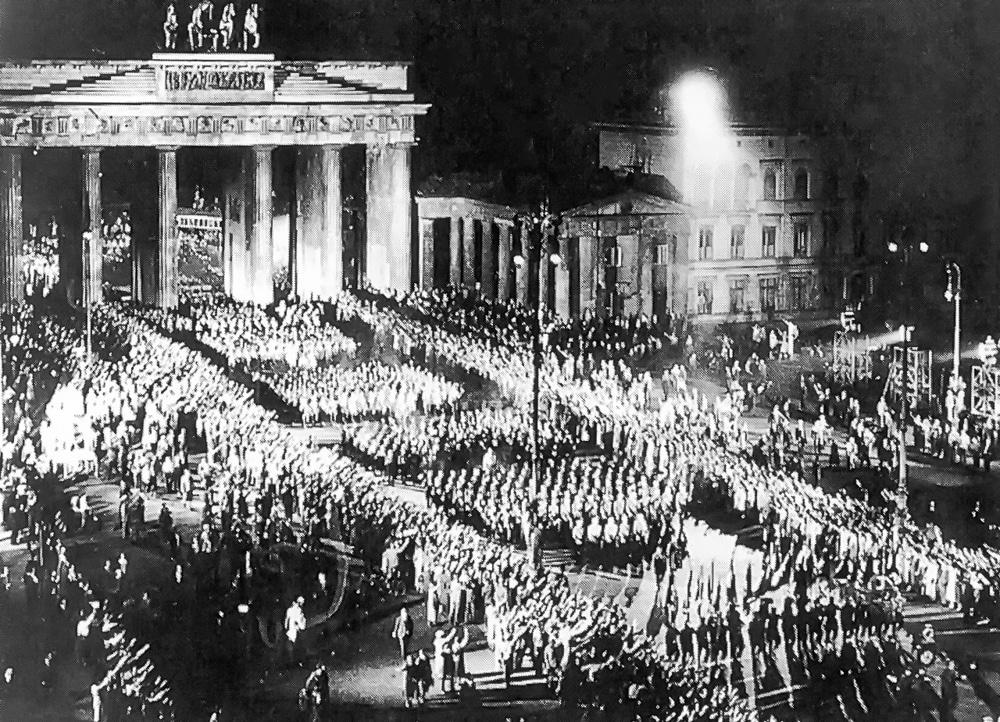 Torchlight SA Procession Berlin 1933 Germany